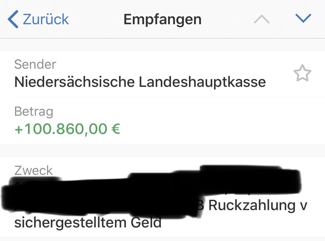 Bild Rückzahlung